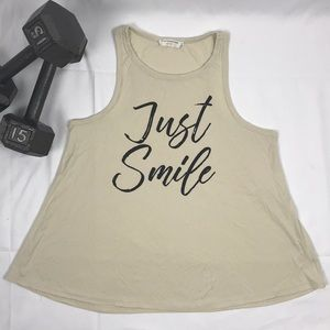 Just smile 😊 tank-top